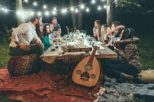 outdoor party ideas for adults dinner